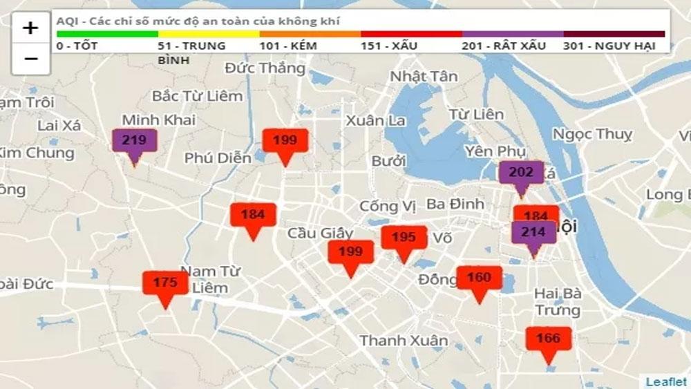 Không khí tiếp tục diễn biến xấu ở Hà Nội và nhiều địa phương